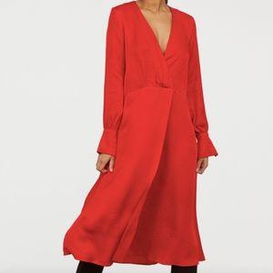 H&M Women's Long Sleeve Jacquard-Weave Dress